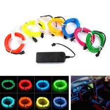 1M/3M/5M 3V Flexible LED Light EL Wire String Strip LED Neon Lights Neon Lamp