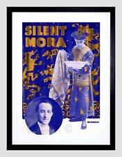SILENT Mora il mago dei file Vintage Pubblicità Nero Framed Art Print b12x2541
