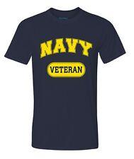 Military Navy Veteran T-shirt Performance PT Work Out Fitness Shirt Blue