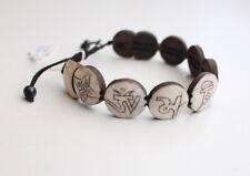 Om Mani Carved Bone Adjustable Bracelet