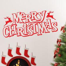 Feliz Navidad frase adhesivo de pared tienda ventana decoración arte xm12