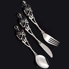 316L Stainless Steel Tableware Dinnerware Cutlery Skull Fork Spoon Knife Set