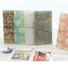 Worldmap Scrapbook Mini Photo Album with Memorize memo paper Storage Nice Travel