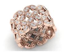 2ctw Round Cut Diamond Ladies Flower Full Eternity Band Ring 10K Gold J SI2