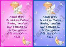MAGNETE IN PVC RIGIDO PREGHIERA ANGELO DI DIO CUSTODE BAMBINI CALAMITA SANTINO