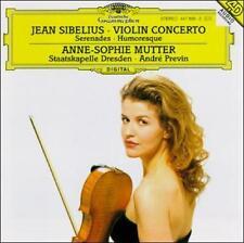 ANNE-SOPHIE MUTTER / ANDRE PREVIN ~ JEAN SIBELIUS VIOLIN CONCERTO ~ CD 1996