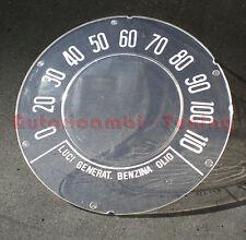 VETRINO PER CONTACHILOMETRI CONTAKM FIAT 500 D F G  SCALA 110KM/H