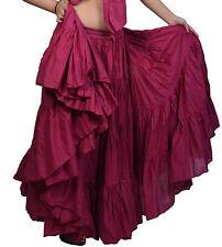 25 Yard 4 Tier 100% Cotton Skirt Turkish Gypsy 34 Inch Long NN