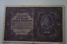 Billet bon porteur 1000 Polska Krajowa Tysiac Marek Poskich 1919