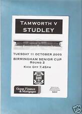 TAMWORTH v STUDLEY        BIRMINGHAM SENIOR CUP 2005-06