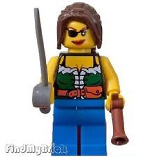 M119 Lego Shipwreck Hideout Pirates Female Minifigure with Sword & Gun 6253 NEW