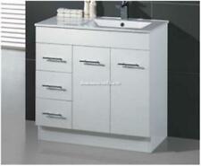 Bathroom Vanity & Basin Ceramic/Stone/No Top 2 Pac White Handles Kickboard 900W