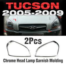 Chrome Head Lamp Garnish Molding A362 For HYUNDAI 2005-2009 Tucson