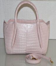 $4150 NEW Nancy Gonzalez MATTE CROCODILE Horseshoe NINA Tote BLUSH  PINK Bag