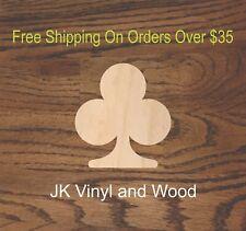 Club, Cards, Cut Wood, Wood Cutout, Crafting Supply, A256