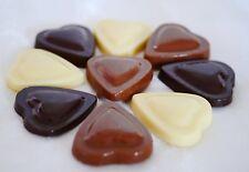 Hand-made Belgian Chocolate Mini-hearts.White, milk & dark chocolate