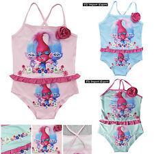 Trolls Poppy Costume Mare Intero Bambina 4-8 Anni Girl Trolls Swimsuit SWITR04