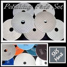 "4"" Diamond Polishing Pads Discs Granite Concrete WetSet"