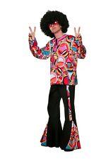 70er Jahre Herren Outfit 2-teiliges Hippie Kostüm Schlaghose + Oberteil Schlager