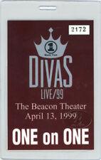 ELTON JOHN 1999 LAMINATED BACKSTAGE PASS VH1 DIVAS Cher Whitney Houston