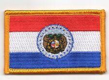 Toppe Toppa PATCH MISSOURI Bandiera 7x4.5cm USA AMERICA ricamata termoadesivo