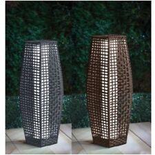 69cm Tall Rattan Effect Solar Lantern Lamp LED Outdoor Garden Lights Patio