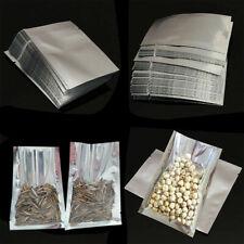 100pcs Silver Aluminum Foil Bags Heat Seal Mylar Food Storage Vacuum Pouches