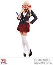 Widmann College Girl Jacke Schleifentop Rock Krawatte Schulmädchen Kostüm Damen
