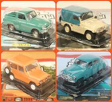 1:43 GAZ M72 M73 Moskvitch 2148  2150 4x4 russian off-road car USSR UdSSR DDR