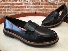 Clarks Black Leather Raisie Arlie Slip on Comfort Loafers New