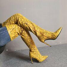 Custom-made Women Overknee High Thigh Boots Stilettos High Heel Pointed Runway