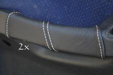 Accoppiamenti Fiat Stilo Pelle 2x PORTA MANIGLIA copre CUCITURE BIANCO