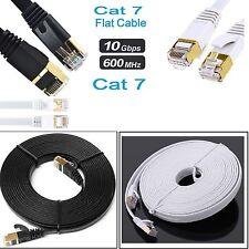 Plana RJ45 Ethernet CAT7 Red LAN Parche Cable Lote de TV inteligente de módem SSTP Gigabit