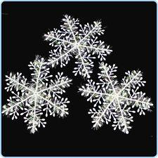 Arbre de Noël décoration / table confetti Flocons de Neige 10 cm-Lot de 3 ou plus