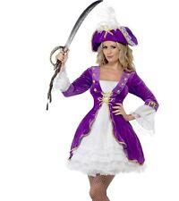 Sexy da Donna Viola Costume Carnevale Pirata Da Donna Nuova da Smiffys