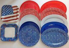 PATRIOTIC PAPER & PLASTIC PLATES, SELECT: Plate & Color