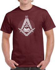 226 Illuminati mens T-shirt secret society free mason elites All Sizes/Colors