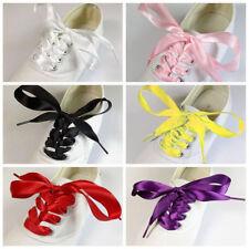 3Paire Large Couleurs Plat Soies Lacets Sport Chaussures Ruban Satin Corde  Neuf 0030f8802819