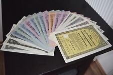 Reichsmark Schuldverschreibungen aus dem berühmten Reichsbankschatz 1934-1942