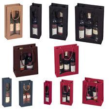 20x Flaschentasche Geschenk Tüten Flaschentüte f. Wein Sekt versch Gr. + Farben