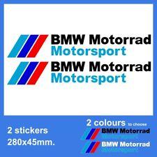 2x - 280x45mm. BMW Motorrad Motorsport Vinyl Decal Sticker. 2 colours to choose
