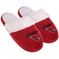 Arizona Cardinals Womens Colorblock Fur Slide Slippers NFL New Style
