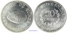 GUINEE REPUBLIQUE   50 CAURIS ALU  ,  COQUILLAGE  1971  SUPERBE  A FDC