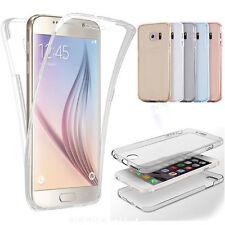 Genuino 360 ° Transparente Frontal y Trasero Estuche con Funda de gel de protección completa para iPhone 7 Plus
