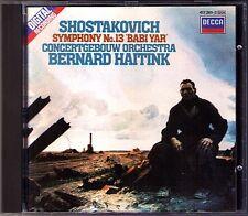 Bernard HAITINK SHOSTAKOVICH Symphony No.13 Babi Yar MARIUS RINTZLER CD Sinfonie