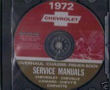 1972 CAMARO/SSCHEVELLE/SS SHOP BODY REPAIR MANUAL ON CD