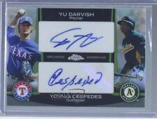 2012 Topps Chrome Dual Autographs #DA-DC Yu Darvish Yoenis Cespedes Auto Card