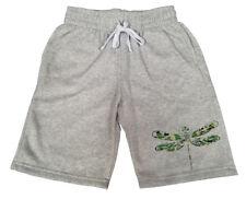 Men's Camo Tribal Dragonfly Gray Fleece shorts sweatpants Jogger Army Aztec B223
