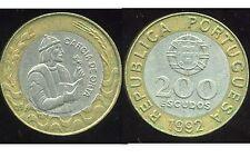 PORTUGAL 200 escudos 1992   ( bis )