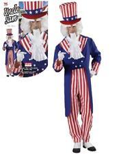 Costume Carnevale uomo travestimento Zio Sam frac pantaloni cappello *20120
